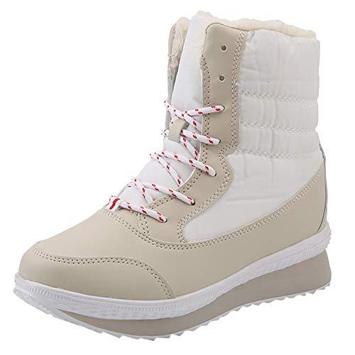 Mujer Mantener Caliente Botas de Nieve,Proumy Otoño Invierno Casual Zapatos De Las...