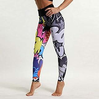 Beiziml Women Digital Print Yoga Pants High Waist Sports Fitness Leggings Running Tights Elastic Breathable Exercise Trousers