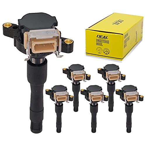 DEAL AUTO ELECTRIC PARTS Pack of 6 New Ignition Coils Compatible With 323Ci 323i 323is 325i 325Ci 325Xi 328i 328is 330i 330Ci 330Xi 525i 530i 528i M3 Z3 750iL 850Ci Freelander V6 V12 UF354 UF300 IC417