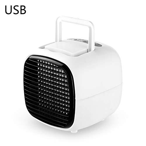 Draagbare Mini Fan USB Luchtbevochtiger Airco Desktop Slaapkamer Thuis Koeler Kleur: wit