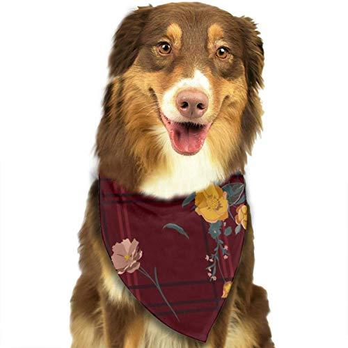 hgdfhfgd Bufanda de Perro Vector Transparente Fondo de Fondo Ramos Flores Mascotas Pañuelos Triángulo Baberos Pañuelo de Cabeza Ajustable