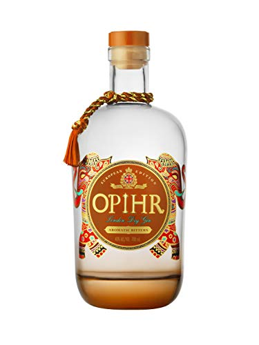 Opihr Spiced Gin - European Edition - Sugar Free & Zero Artificial Flavouring, 70 cl