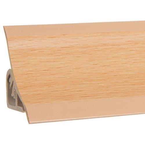 HOLZBRINK Copete para encimera de Cocina, Haya, listón de Acabado PVC, listón de encimera 23x23 mm 150 cm