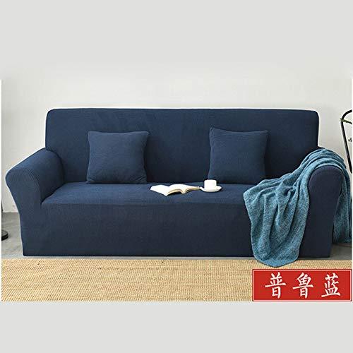 PINGDAGUO Funda de sofá Cubierta del sofá de la Sala Cubierta del sofá a Cuadros Gruesos Todo Incluido combinación de Color sólido sofá Toalla Cubierta del sofá sofá, 4, M 145,185CM