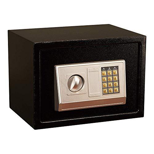 N/Z Inicio Equipo Armario Cajas Fuertes Mini Cofre electrónico Seguridad Caja Fuerte Digital Caja Fuerte de Acero Caja de Seguridad para Dinero Caja Fuerte Negra (Color: Negro Tamaño: 35x25x25cm)