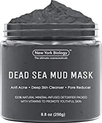 DEAD SEA MUD works for all skin types, including dry, normal, oily, combination, sensitive, and irritated. This daily acne treatment has been designed to be highly effective yet gentle enough for everyday use. MINERAL-INFUSED Clarifying Mud Mask is b...