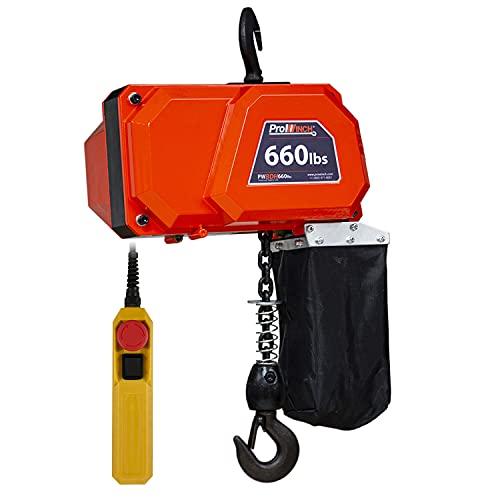 Prowinch PWBDH660U 660 Lb Mini Electric Chain Hoist 10 ft Chain 110V