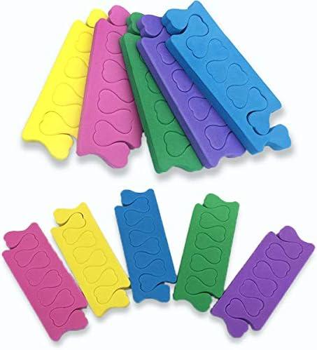 Foam Teenseparators SponsQiundar 100Pairs Finger Teen Dividers voor Het Schilderen Van Nagels Pedicure Manicure Accessoires Gereedschap 5 kleuren