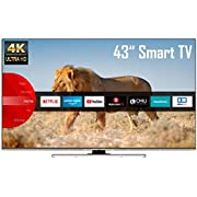 JVC LT-43VU8055 43 Zoll Fernseher (4K Ultra HD, HDR, Triple Tuner, Smart TV, Bluetooth, Works with Alexa) [Modelljahr 2021]