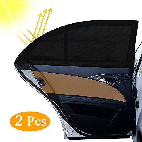 otumixx Sonnenschutz Auto 2 Stück Universal Selbsthaftende Sonnenblende Auto Sonnenschutz Baby Kinder UV Schutz Autofenster Sonnenschutzrollos Heckscheibe für Schützt Mitfahrer Haustiere, 126 x 52 cm