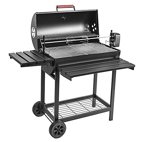 QINJIE BBQ Charcoal Grill, Large Stainless Steel Charcoal Grill, for Outdoor, Beach, Cooking, Picnic, Backyard, Travel, Party, Tailgating