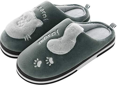 Invierno Zapatillas de Estar por casa para Mujer Hombre cómodo y Antideslizante Pantuflas