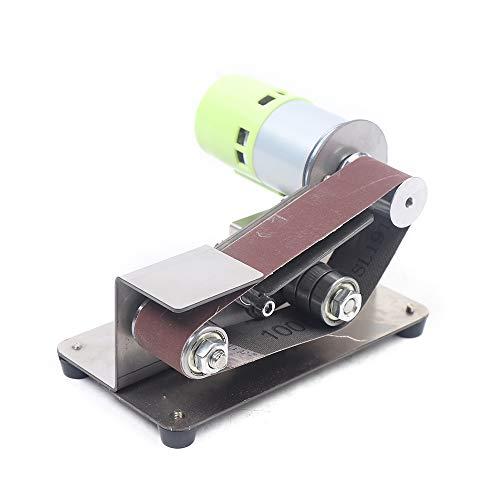 7 Gears Adjustable Stainless Steel DIY Mini Belt Sander Knife Apex Edge Sharpener Polishing Grinding Machine 33030mm Belts Grinder 110-220v 100W best (795 Motor)