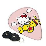 Púas de guitarra Hello Kitty 6 unidades de púa incluyendo delgado mediano pesado 0,46 mm / 0,71 mm / 0,96 mm Adulto Hombres Mujeres Teens0,71 mm