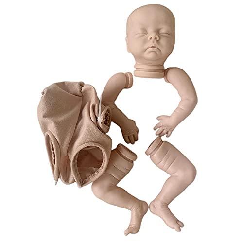 Kaikso-In Kit de muñeca de bricolaje, 18 pulgadas de vinilo suave realista en blanco sin pintar muñecas de bebé juguetes kit de molde para niños pequeños adultos