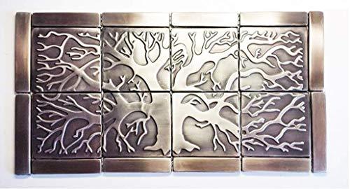 20 Stainless Steel Kitchen Tiles, metal backsplash tiles