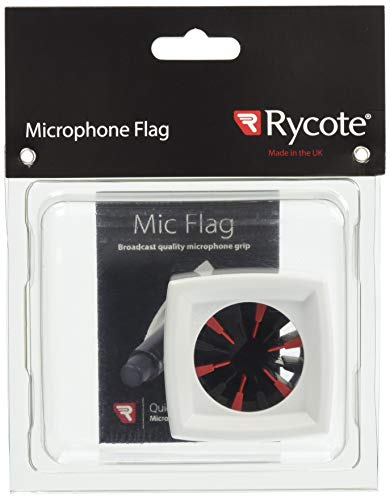 Rycote Single Square microfoon vlag wit