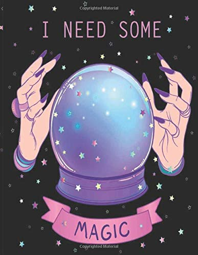 I Need Some Magic: Pastel Goth Fortune Teller Bullet Notebook Journal : 110 Pages of 8.5