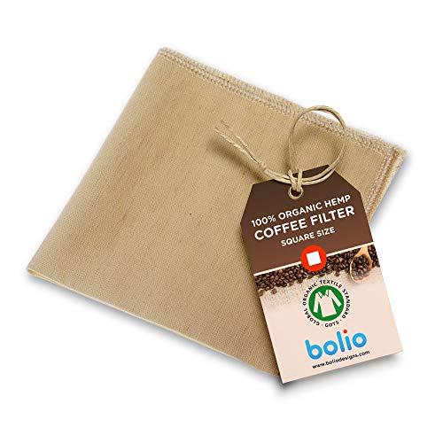 Bolio Organic Hemp Cone Pour Over Coffee Filters