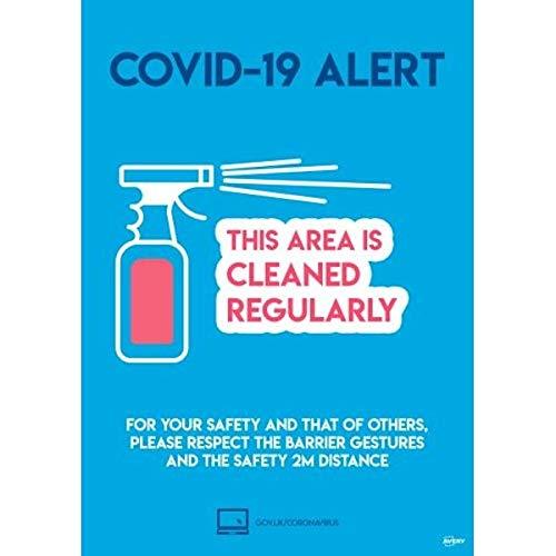 Avery COVID-19 - Cartello per etichette formato A4, 297 mm x 210 mm, 2 poster autoadesivi per confezione