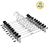 Clothes Hangers, IDMAX Adjustable Heavy Duty Hangers with Non-Slip Clips Pants Hangers Stainless