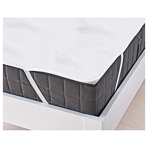 Hengda Protector Colchon Impermeable , 180 * 200cm, colchón de algodón Puro, Transpirable, antiácaros, Blanco