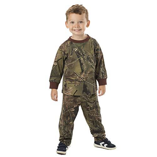 TrailCrest Infant - Toddler Cotton Camo Long Sleeve T-Shirt and Long Pants Set, 12-18 Months