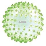 LUDI - Balle sensorielle verte pour l'éveil de bébé. Adaptée aux enfants dès 6 mois. Gros picots tendre faciles à mordiller. Balle de jeu ou de massage. Diamètre : 20 cm - réf. 2795VE