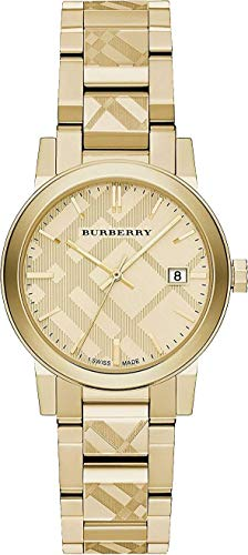 The City BU9145 Damen-Armbanduhr, Zifferblatt, 34 mm, goldfarben