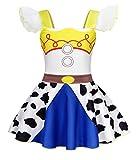 AmzBarley Disfraz Princesa Vestido Jessie Traje Niñas Navidad Fiesta Boda Bautizo Baile Falda Niña Costume Cumpleaños Halloween Cosplay Carnaval 5-6 Años