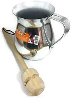 Imusa Aluminum Chocolatera (Hot Chocolate Pitcher). Bundled with a Wooden Chocolate Mixer - Molinillo 14