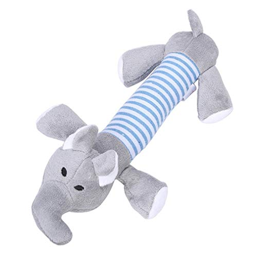 Pet Dog Cat Funny Fleece Plush Dog Toy Squeak Chew Sound Toy Pig Plush Toys,Gray