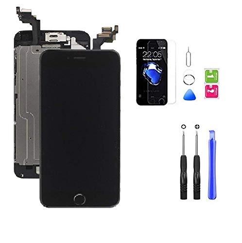 Hoonyer Display per iPhone 6 Plus Touch Screen LCD Digitizer Schermo 4,7' Utensili Inclusi(con Pulsante Home, Fotocamera, sensore Flex) Nero