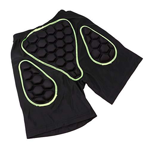 BESPORTBLE Pantalones Cortos Acolchados de Protección Protección de La Cadera Pantalones Cortos Acolchados 3D Equipo de Protección para Snowboard Skate Ski Hip Butt Tailbone