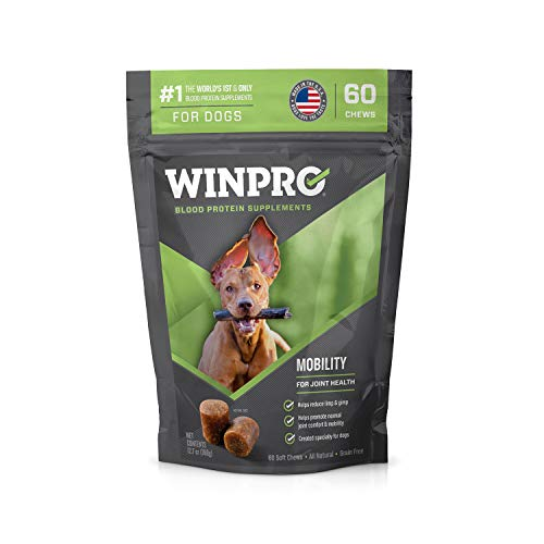 WINPRO MOBILITY Blood Protein Soft Chew Supplement for Healthy Hips and Joints (60-Count Pouch)
