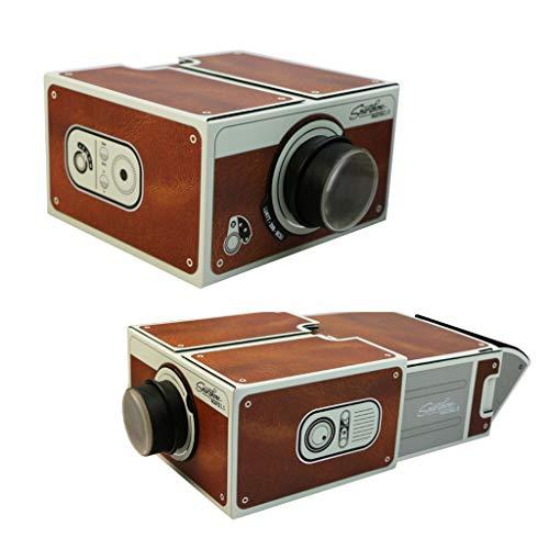 jiken Retro Cardboard Smartphone Projector 2.0 DIY Portable Mobile Phone Home Cinema Theater Projector