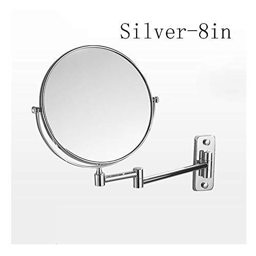 QWET Espejo de Maquillaje montado en la Pared con 3 aumentos, Espejos...