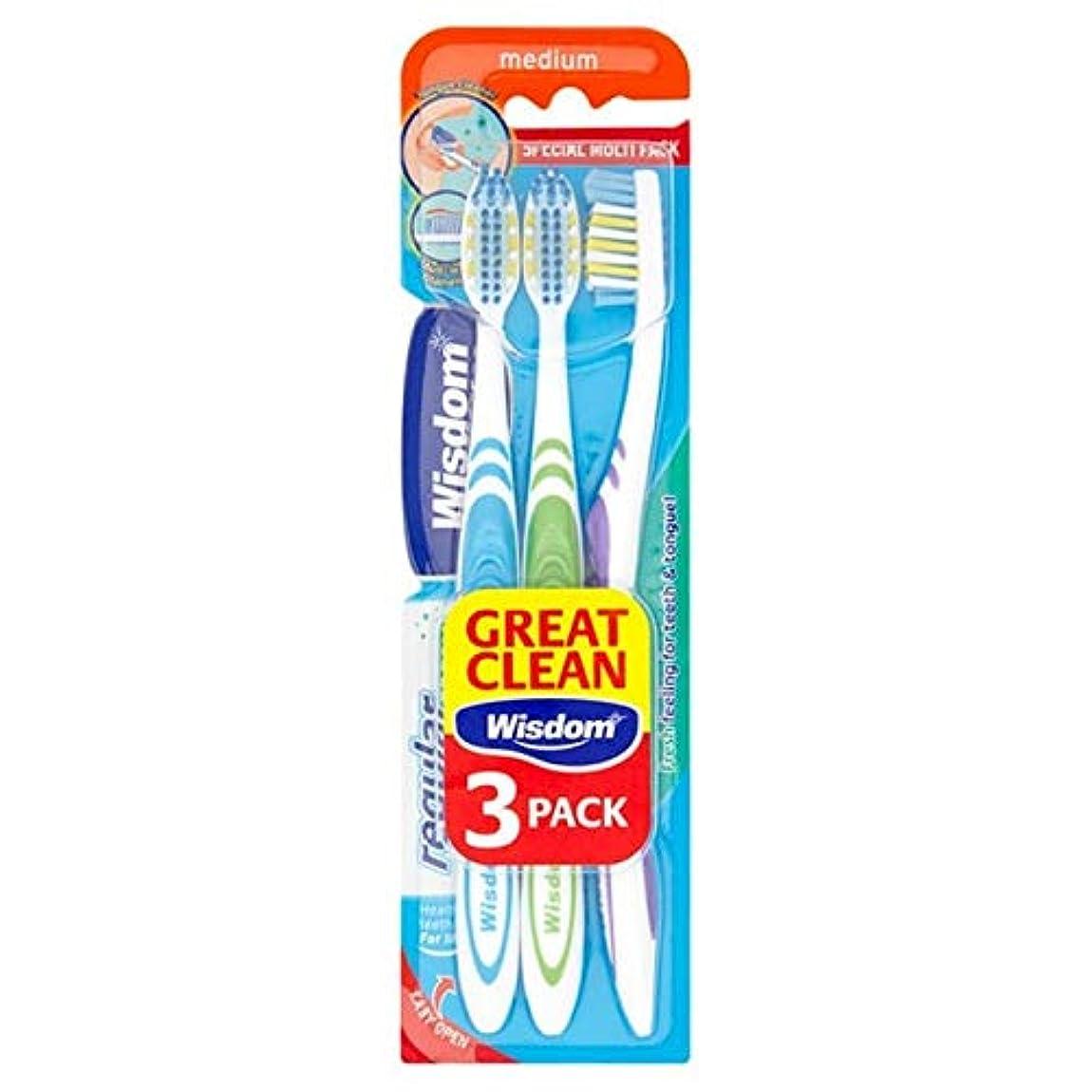 寛容な酸素養う[Wisdom ] 知恵通常の新鮮な歯ブラシ会社トリプルパック - Wisdom Regular Fresh Toothbrush Firm Triple Pack [並行輸入品]
