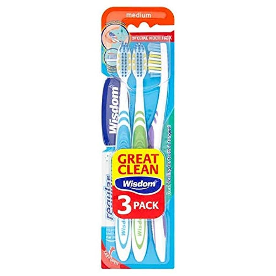 定義するキャンプ武装解除[Wisdom ] 知恵通常の新鮮な歯ブラシ会社トリプルパック - Wisdom Regular Fresh Toothbrush Firm Triple Pack [並行輸入品]