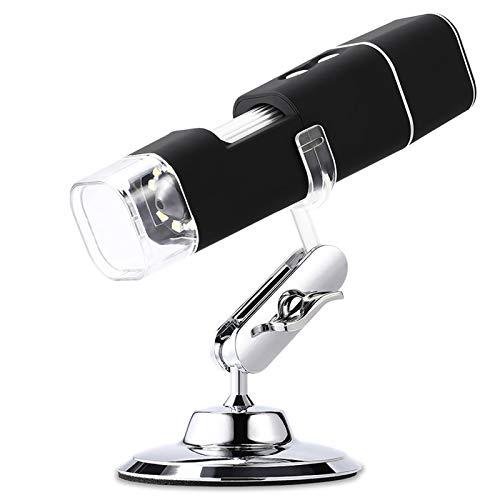 T opiky Drahtloses digitales WiFi 2 MP-Mikroskop, 8 LED 1000X High Definition-Elektronenmikroskop, für Mobiltelefon/Computer, zum Aufzeichnen von Fotografie