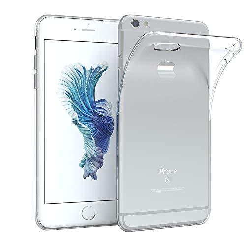 EAZY CASE Hülle kompatibel mit Apple iPhone 6 / 6S Schutzhülle Silikon, Ultra dünn Slimcover, Handyhülle, Silikonhülle, Backcover, Transparent/Durchsichtig, Transparent