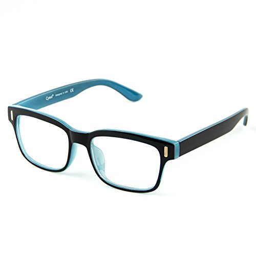 Cyxus Blue Light Blocking Computer Glasses Retro Clear Lens Eyeglasses