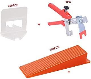Tile Leveling System Handy Kit 2mm 401pcs Ceramic Wall Floor Leveling Clips 300pcs + Wedges 100pcs + Pliers 1pc TUSRAI
