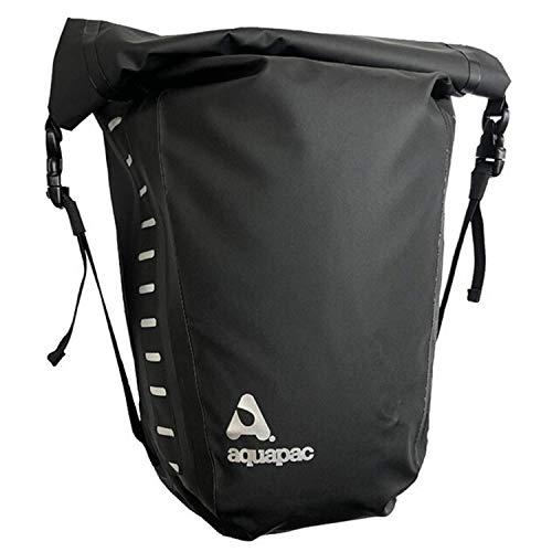 Aquapac Unisex Waterproof Bike Pannier, Black, One Size, 17lt, reflective, outdoor