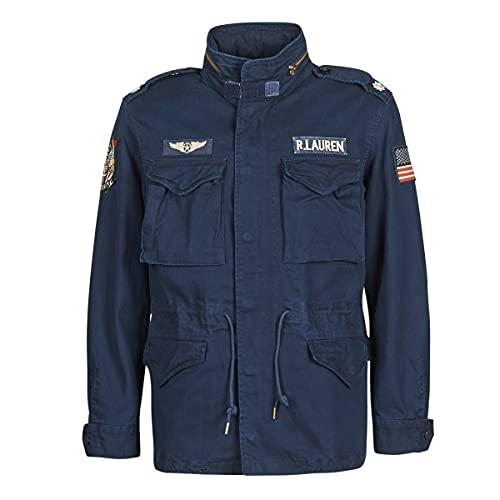 Ralph Lauren Chaqueta militar de sarga de algodón. navy M