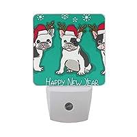 ナイトライト 犬 クリスマス LEDライト 常夜灯 足元ライト 省エネ コンセント 室内照明 玄関 階段 廊下 寝室用 センサー 子供 お年寄り 授乳ライト 壁掛け照明