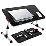 [Large Size] Laptop Bed Tray Table, SAIJI Adjustable Laptop Stand, Portable Lap...