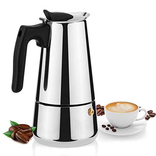 Cafetera Espresso 430 De Acero Inoxidable, Moka Pot 300ml/10oz/6 Tazas, Percolador De Café Italiano Para Cocina De Inducción
