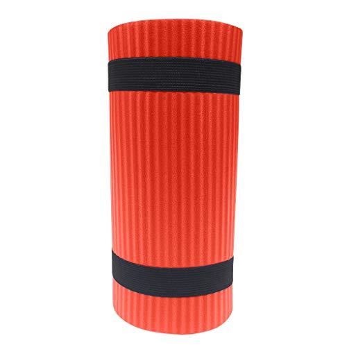 Andouy Yoga Knee Pad Pilates Workout Mat Halterung für Hands Wrists Knees Ellenbogenschützer Matten Übungsmatten für Yoga, Knie, Ellenbogen(60X25X1.5CM.Orange)