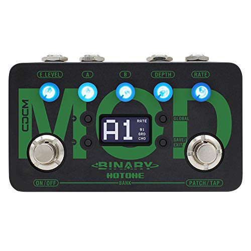Hotone Binary Mod Multi-Mode Chorus Flanger Tremolo Phaser Rotary Vibe Wah Tap Tempo Modulation Guitar Bass Effects Pedal